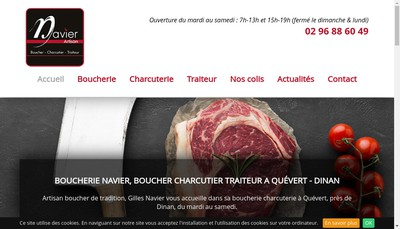 Site internet de SARL Gilles Navier