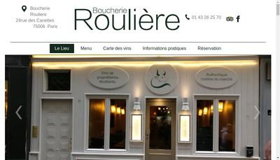Site internet de Boucherie Rouliere