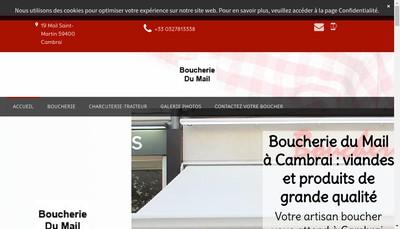 Site internet de Boucherie du Mail