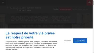 Site internet de SARL Boucherie Durif