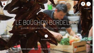 Site internet de Le Bouchon Bordelais