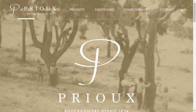 Site internet de Bouchons Prioux SARL