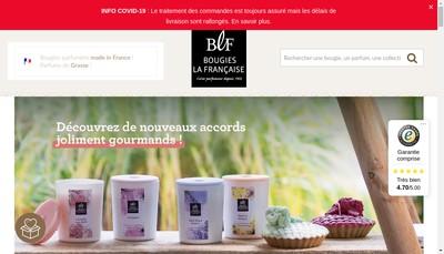 Site internet de SA Bougies la Francaise