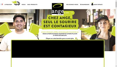 Site internet de Boulangerie Ange