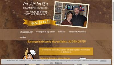 Site internet de Au Coin du Feu