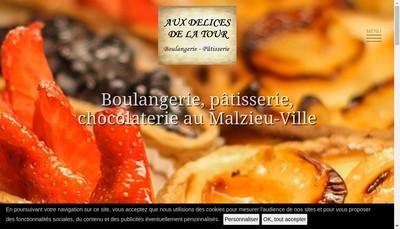 Site internet de Aux Delices de la Tour