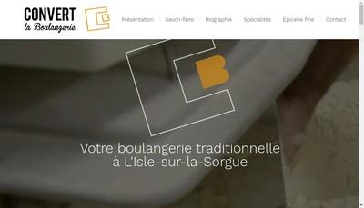 Site internet de Convert la Boulangerie