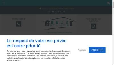 Site internet de Boulet Metal