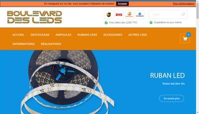 Site internet de Boulevard des Leds