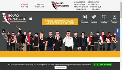 Site internet de Bourg Menuiserie