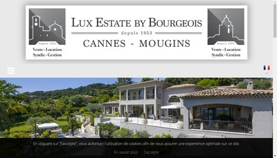 Site internet de Lux Estate By Bourgeois Mougins