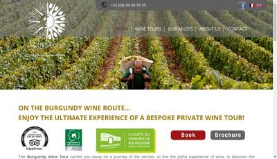 Site internet de Bourgogne Gold Tour
