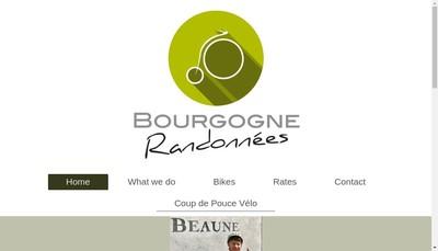 Site internet de Bourgogne Randonnees