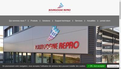 Site internet de Bourgogne Repro