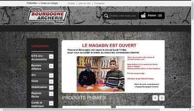 Site internet de Bourgogne Archerie