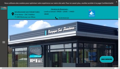 Site internet de Bourgogne Sud Fermetures