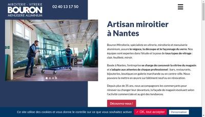 Site internet de Bouron Miroiterie