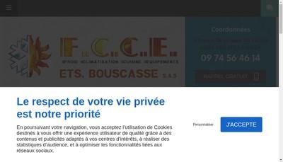 Site internet de Etablissements Bouscasse Froid Climatisation Cuisine Equipements