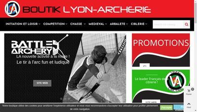 Site internet de Lyon Archerie