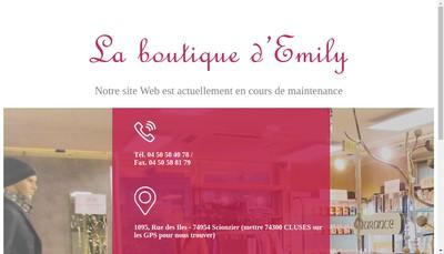 Site internet de La Boutique d'Emily