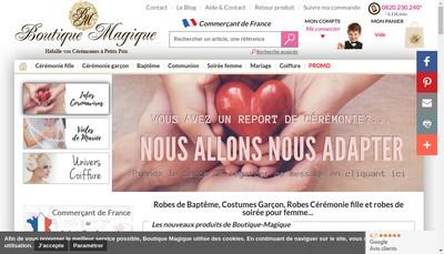 Site internet de Boutique Magique
