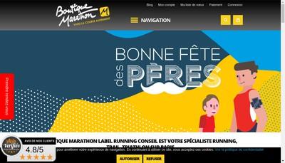 Site internet de Boutique Marathon