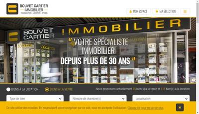 Site internet de Bouvet Cartier Immobilier