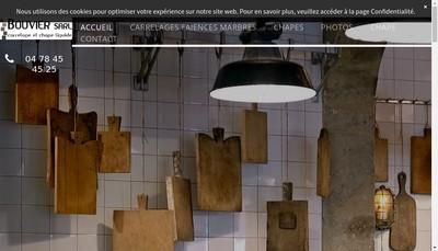 Site internet de Bouvier Carrelage
