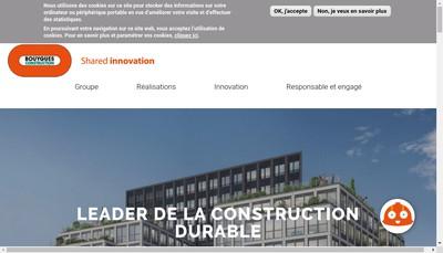 Site internet de Bouygues Construction Materiel