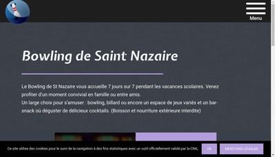 Site internet de Bowling de Saint Nazaire