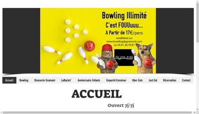 Site internet de Bowling de Gramont