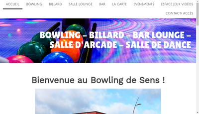 Site internet de Bowling Sens