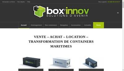Site internet de Boxinnov