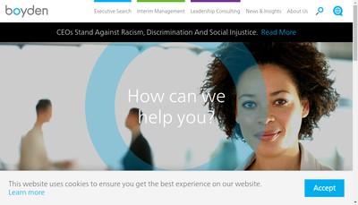 Site internet de Boyden France
