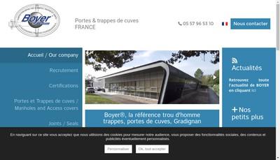 Site internet de Boyer