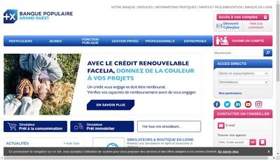 Site internet de Banque Populaire Grand Ouest