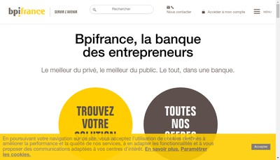 Site internet de Bpifrance