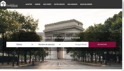 Site internet de Building Partners