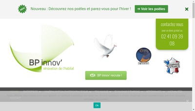 Site internet de Bp Innov