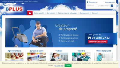 Site internet de Bplus