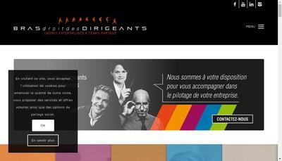 Site internet de Bras Droit des Dirigeants Corporate