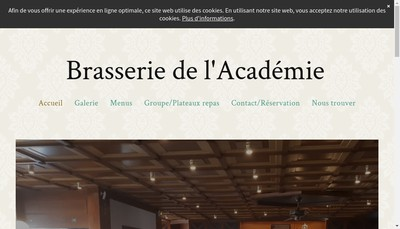 Site internet de Brasserie de l'Academie