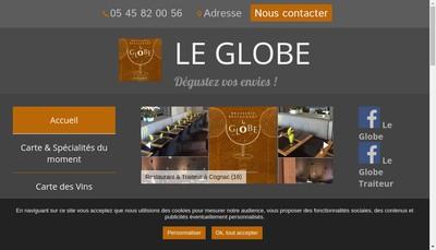 Site internet de Le Globe