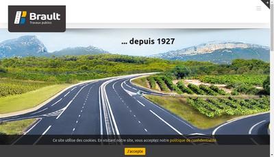 Site internet de Brault Travaux Publics