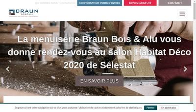 Site internet de Braun Bois et Alu SARL