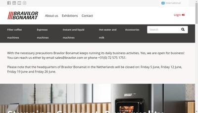 Site internet de Bravilor France