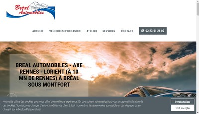 Site internet de Breal Automobiles