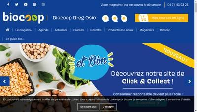 Site internet de Biocoop Bregosio