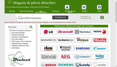 Site internet de EURL Brelect