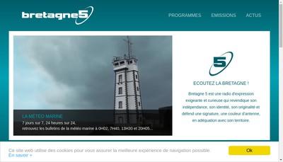 Site internet de Bretagne 5